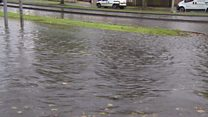 Heavy rain causes flash flooding in Gloucestershire