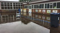 Pupils' work ruined at flooded school