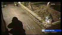 Ex-football chief home raid footage released