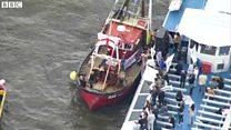 EU残留・離脱両派、ロンドン・テムズ川でバトル