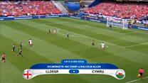 Uchafbwyntiau: Lloegr 2-1 Cymru