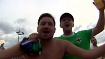 NI fans celebrate win over Ukraine