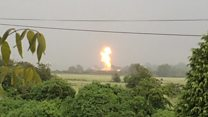 'I was trying to film the lightning, then factory exploded'