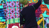 Street art brings colour to city