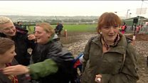 Family's 12-hour journey to Glastonbury Festival