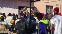 Looting near South Africa's capital