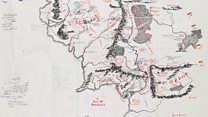 Tolkien's 'densley annotated' Middle Earth map