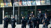 German gunman killed by police