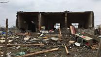 Inside a tornado damaged home