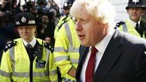 'Shame on you Boris' crowds yell
