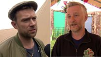 Glastonbury stars react to EU vote