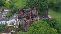 Daresbury Hall fire aftermath