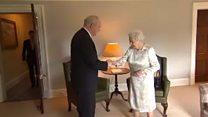 Queen jokes with Sinn Féin's McGuinness