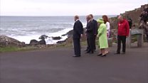 Queen visits NI's Giant's Causeway