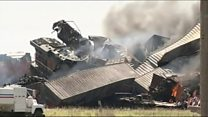 Freight trains collide in Texas