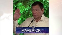 Rodrigo Duterte yarahiriye amabanga ya prezida wa Philippines