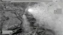 """El impresionante ataque aéreo que arrasó con """"700 vehículos de Estado Islámico que huían de Faluya"""""""