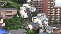 Casa desliza inteira durante tempestade no Japão; assista