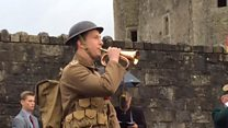 Bugle sounds Advance at Enniskillen Castle