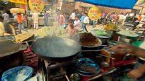 Indian street breakfast