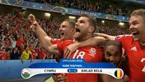Uchafbwyntiau: Cymru 3-1 Gwlad Belg