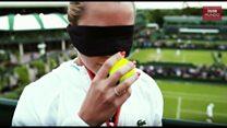La tenista Dominika Cibulkova demuestra su secreta habilidad con el olfato