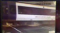 Man and child in 'shocking' near-miss
