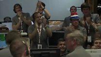 """Новость об успешном маневре """"Юноны"""" в центре НАСА"""
