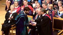 Dr Who becomes doctor of drama in Glasgow