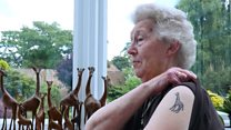 Woman, 83, gets her first tattoo