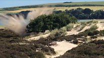 Studland explosion