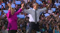 Obama 'fired up' for Hillary Clinton