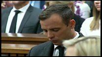 Писториус слушает приговор судьи
