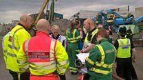 Five die in Birmingham wall collapse
