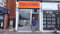 Fish and chip shop doubles as photo studio