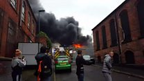 Watch: Large fire in Basford