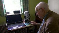 100 year old gets back online