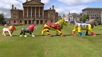 Lions installed in Paisley culture bid