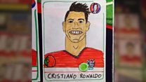 Drawing 800 football stickers - badly