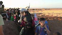 A difícil jornada que sírios enfrentam para fugir do Estado Islâmico