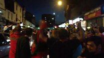 Portugal fans celebrate cup win