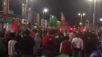Portugal fans party on Dungannon streets