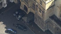 Aerial footage as May arrives at Westminster