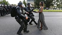 Iconic images of peaceful protests