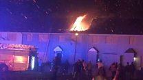 Houses gutted in Belfast blaze