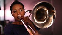 The trombone-playing jazz singer