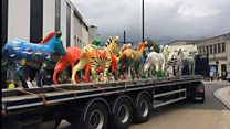 Stolen zebra sculpture leads parade