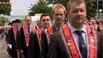 Thousands march in Orange parades