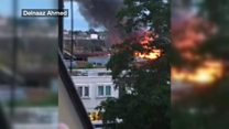 Fire at Battersea industrial unit