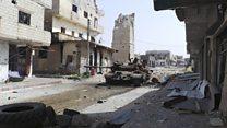 Дарайя шаҳри бомбардимон остида
